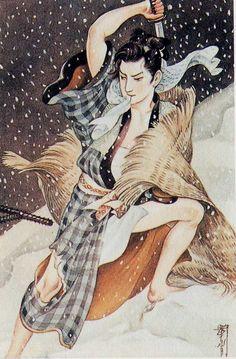pretty pictures of naughty samurai boys Traditional Japanese Art, Japanese Modern, Japanese Beauty, Samurai, Grafic Art, Japanese Drawings, Korean Art, Japanese Painting, Japan Art