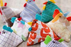 DIY couture facile- lapin et cocotte en tissu en tant que décoration de Pâques