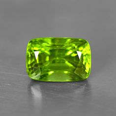 4.27 Cts Natural Unique AAA+ Top Green Peridot Loose Gemstone Cushion Cut Burma #Unbranded