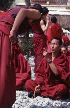 Monk practicing asceticism in Tibet.