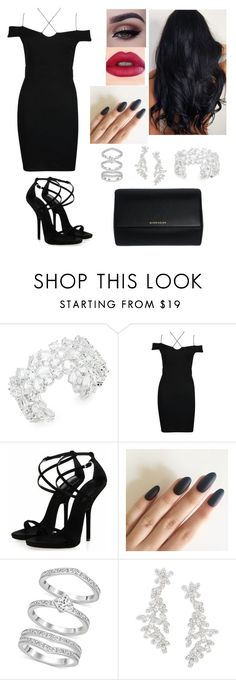 """""""#lbd #fall #fallfashion #streetfashion #party"""" by mrsbreezy0522 ❤ liked on Polyvore featuring Kate Spade, Boohoo, Swarovski and Givenchy"""