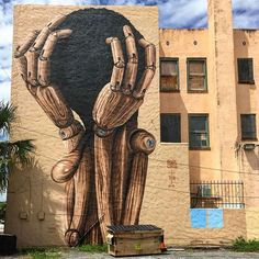 ARTIST . MARK GMEHLING    Pinocchio  location: Saint Petersburg Florida Usa  @streetartsavemylife @markgmehling  #markgmehling #pinocchio #woodtoy #wooddoll #saintpetersburg #florida #usa #graffiti #graffitiart #aerosol #spraypaint #wall #mural #building #urbanart #streetart #publicart #streetartsavemylife #sasml St Petersburg Florida, Saint Petersburg, Banksy Graffiti, Street Art Graffiti, Amazing Street Art, Amazing Art, World Street, Funky Art, Florida Usa