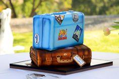 Our wedding cake. Vintage travel