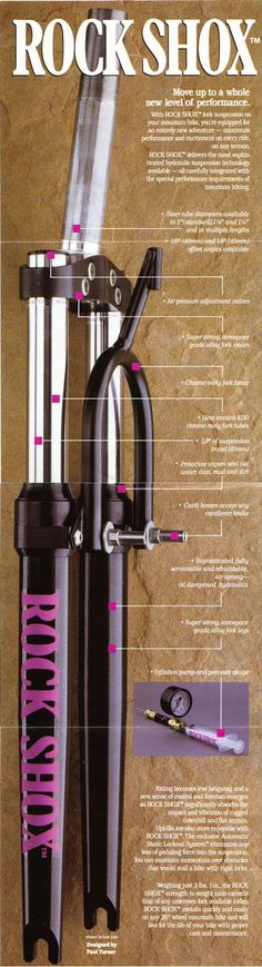 The original mountain bike suspension fork: the RockShox RS1.