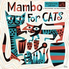 Mambo for CATS Jim Flora | Mid-Century Modern Graphic Design