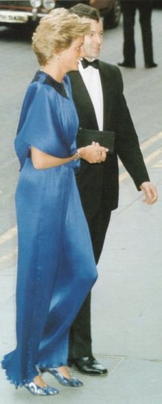 July 16, 1990:  Princess Diana at the London Coliseum for a Performance by the English National Ballet