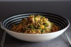 Spaghetti mit orientalischer Paprika-Hacksauce