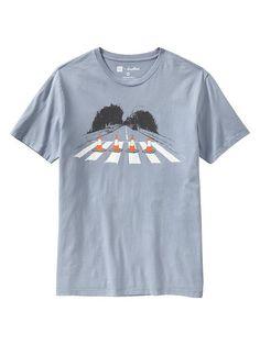 Mens Gap + Threadless Abbey Road Block T.  I know it's a mens shirt but hey :)