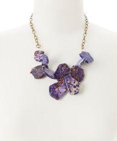 Look+at+this+#zulilyfind!+Purple+Jasper+Cluster+Necklace+by+of+earth+#zulilyfinds