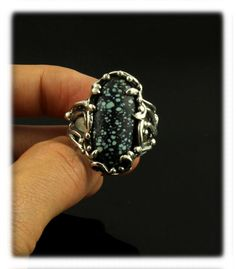 Colorback Turquoise and Silver Ring by Nattarika Hartman of Durango, Colorado USA