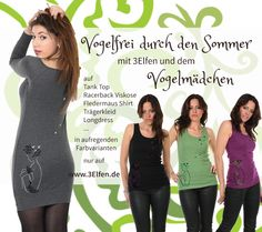 3Elfen Vogelmädchen  Eins mit der Natur, so sitzt sie da... die Seele in Aufruhr, den Vögeln ganz nah... Racerback Top, Elf, Shirts, Tank Tops, Summer Recipes, Nature, Curve Dresses, Fairy, Shirt
