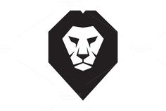 Lion Head Logo - Vector Sign by serkorkin on @creativemarket