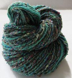 113 yds worsted weight handspun yarn 2 ply by HamptonArtisticYarns