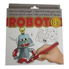 Kleur en maak je eigen Robot #knutselen #robot
