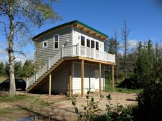 Small Prefab Homes - Prefab Cabins: Maxwell - One and Two Story Prefab Cabins by… Tiny House Storage, Tiny House Cabin, Cabin Homes, Small Prefab Homes, Prefabricated Cabins, Tiny Homes, Build Your House, Building A House, Green Building