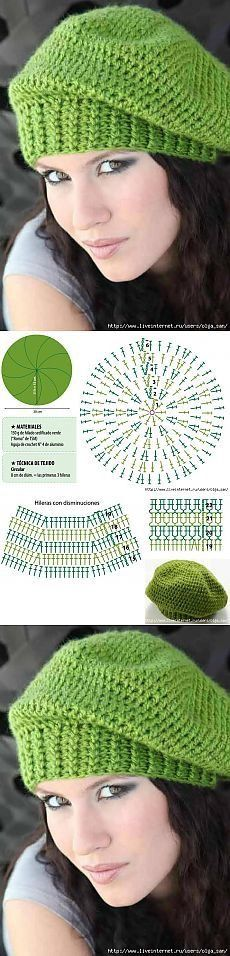 Excellent Free of Charge Crochet Hat summer Thoughts grüne Frau Baret – Strick Mützen Bonnet Crochet, Crochet Beanie Hat, Crochet Cap, Crochet Diagram, Crochet Scarves, Diy Crochet, Crochet Crafts, Crochet Stitches, Crochet Projects