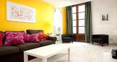 Plaza Real Cuatro,  Barcelona, ES 7 person 4 bedroom | RentalHomes.com Barcelona Apartment, Sofa, Couch, Rental Apartments, Vacation, Centre, Bedrooms, Furniture, City