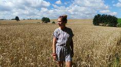 Esprit #champêtre avec Julie Gilberte et sa #combishort #babou à 10€ !