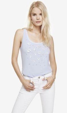 3D FLORAL TANK from EXPRESS