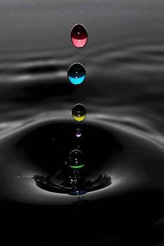 rainbow water drops