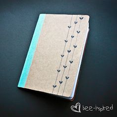 Bee-inspired: DIY notebook/ sketchbook/ whatever-I-want-to-use-it-for-book.