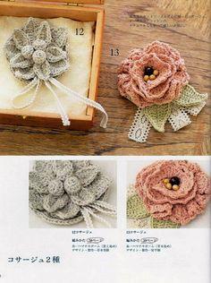 PATRONES GRATIS DE CROCHET: Flores