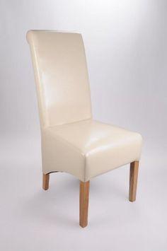 Shankar Krista Ivory Bonded Leather Chair