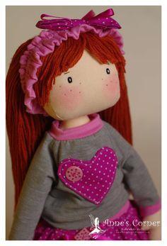 Fatto a mano dolce bambola di pezza fatto per di AnneCorner