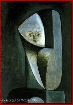 Pablo Picasso - Portrait of Françoise Gilot, 1946