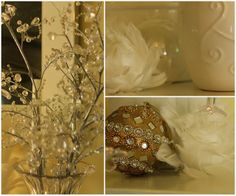 Sparkle Blooms, Gilded Baubles ~ via Italian Girl in Georgia: Christmas In My Home