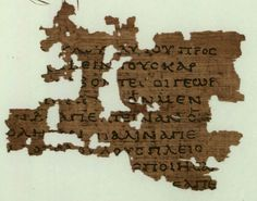 This is one of the earliest surviving texts of the Gospel of Matthew. The surviving texts are Matthew 21:34-37. Found in Egypt, dates from around 150 AD, and is located at the papyrology Rooms at Sackler Library, Oxford England. (P.Oxy.4404)