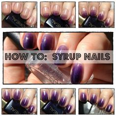 Syrup Nails Pictorial - Easy Nail Art with just one polish! #nails #nailart
