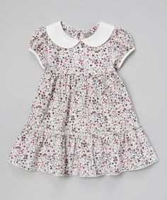 Look at this #zulilyfind! Gray Floral Peter Pan Collar Dress - Infant & Toddler by Les Petits Soleils by Fantaisie Kids #zulilyfinds