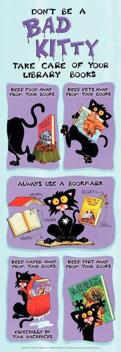 Bad Kitty bookmark
