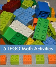 5 LEGO Match Activities - fun way to work on math skills this summer!