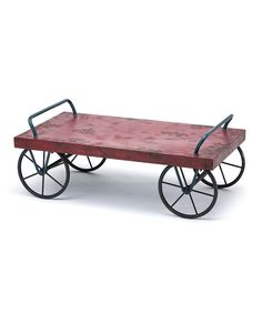 Look at this Antique Red Flower Cart on #zulily today!