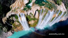 Waterfall: The Tamul waterall in the state of San Luis Potosi, Mexico. | www.eklectica.in #eklectica
