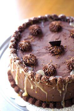 Whiskey Caramel Truffle Cake