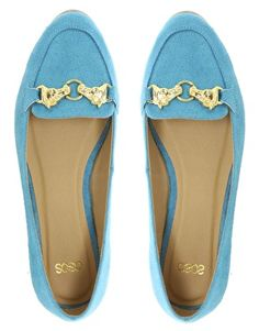 blue & gold loafers