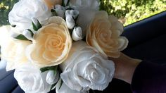 Sunny Wedding bouquet crepe paper bouquet paper by moniaflowers