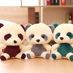 New 1 Piece 20cm Kawaii Small Teddy Bears Plush Soft Toys Panda Stuffed Animals Ted Dolls Children Gift Wholesale