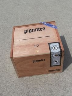 Cigar Box - All Wood, Gigantes Illusione Cigar Box, Crate Box by FunEclecticHF on Etsy