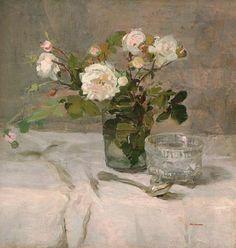 Eva Gonzalès - Roses dans un verre