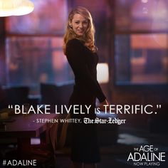 The dazzling Blake Lively is #Adaline! See her story tonight - http://lions.gt/adalinetix