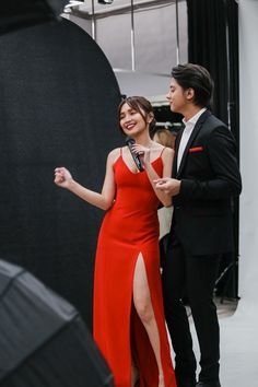 The greatest happiness of life is the conviction that we are loved. Kathryn Bernardo Hairstyle, Kathryn Bernardo Photoshoot, Kathryn Bernardo Outfits, Debut Themes, Simple Gowns, Daniel Padilla, Red Gowns, Bad Girl Aesthetic, Best Friend Pictures