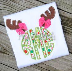 Reindeer Antlers 2 for Monogram Applique Design Machine Embroidery INSTANT DOWNLOAD