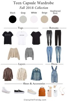 360fb8f030a08 Teen Capsule Wardrobe For The Fall Season  16 Pieces   55+ Outfits