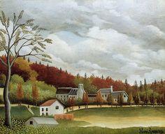 Henri Rousseau: View of Bievre-sur-Gentilly