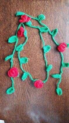 Handmade Crochet Rose Necklace Mother's by PurpleLilacAmigurumi Artist And Craftsman, Yarn Bombing, Rose Necklace, Purple Lilac, Handmade Items, Handmade Gifts, Toronto, Crochet Necklace, Canada