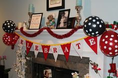 Banner at a Mickey and Minnie Mouse Party #mickeyminnie #partybanner